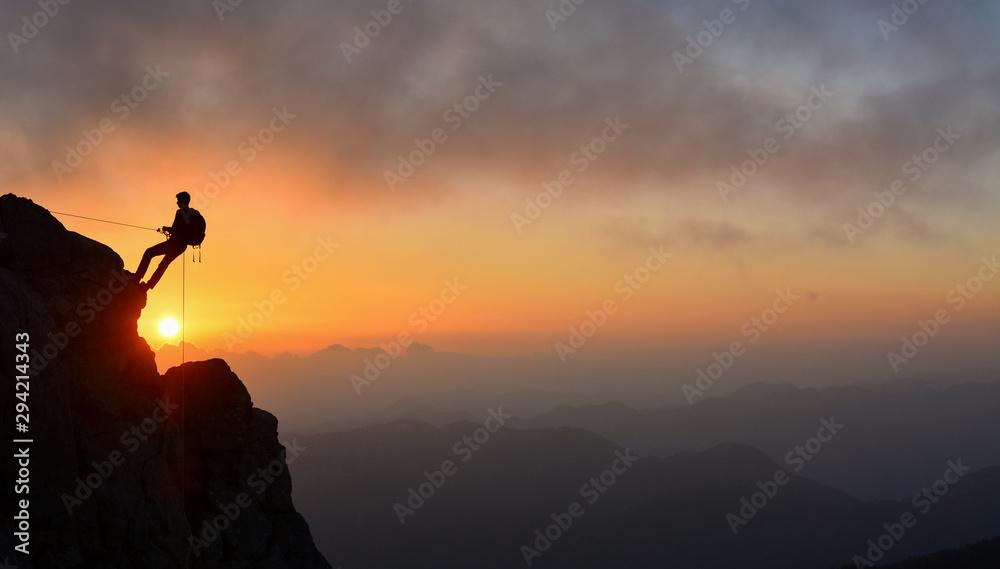 Fototapety, obrazy: Challenging Summit Climb