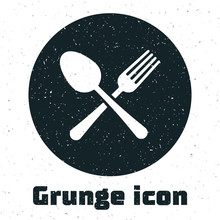Grunge Crossed Fork And Spoon ...