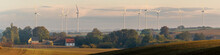 Panorama Of Fields On An Autum...
