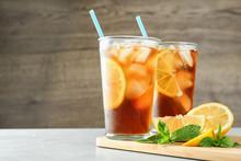 Glasses Of Refreshing Iced Tea...