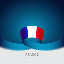 France Flag Background. Wavy R...