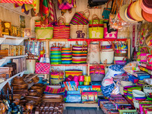 Colorful Market Stall With Han...