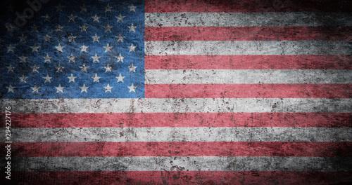Grunge USA Flag Tablou Canvas