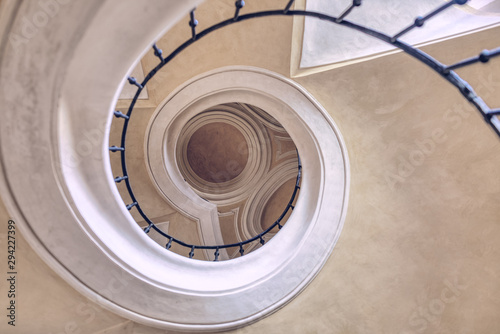 Valokuva  Spiral stairs like snail in Cathedral of the Assumption of Our Lady at Sedlec, K