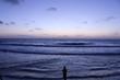 canvas print picture - coucher de soleil a la plage