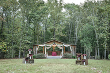 Outdoor Church Wedding Venue In The Countryside Woods At Home
