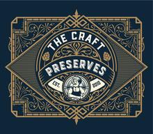 Vintage Preserves Label With C...