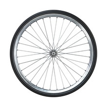 Bicycle Wheel Isolated On Whit...