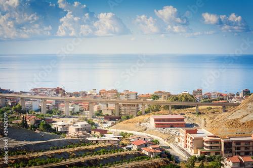 Bova Marina urban view in Calabria Canvas Print
