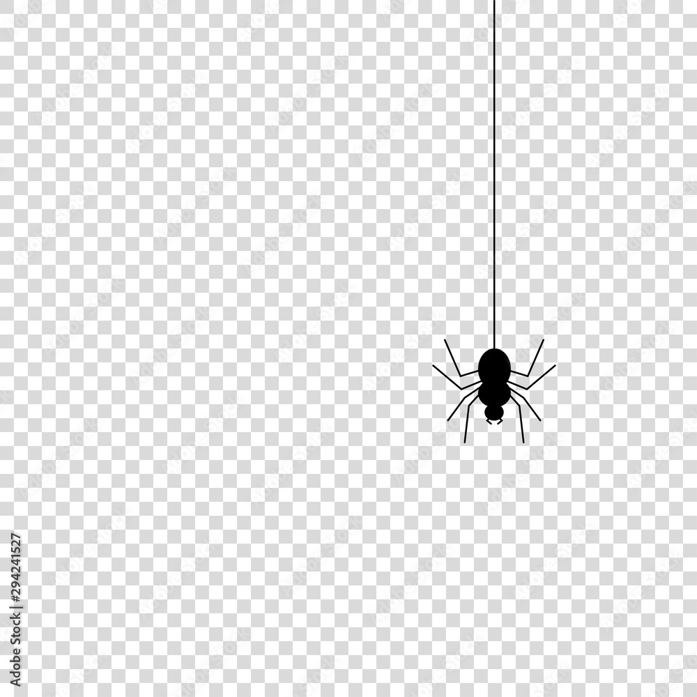 Fototapeta Spider icon mock up vector illustration isolated