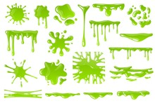 Green Cartoon Slime. Goo Blob ...