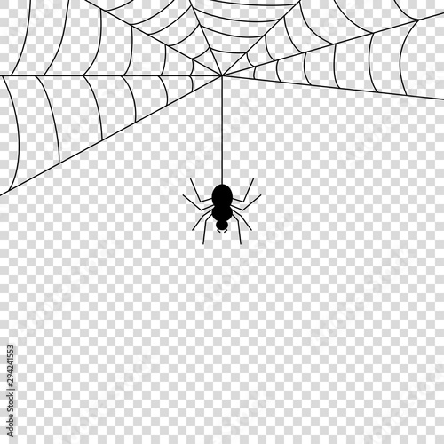 Canvastavla Spider icon mock up vector illustration isolated
