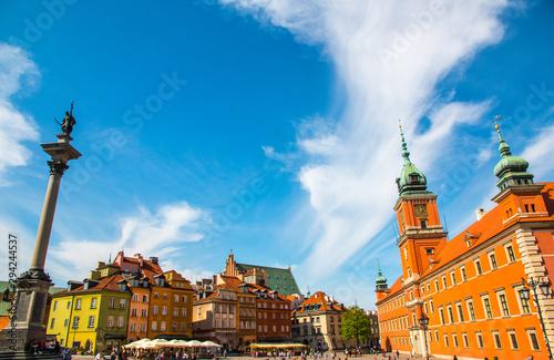 Foto  The royal castle, a landmark of Warsaw, Poland
