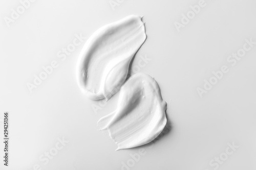 Natural cream on white background Canvas Print
