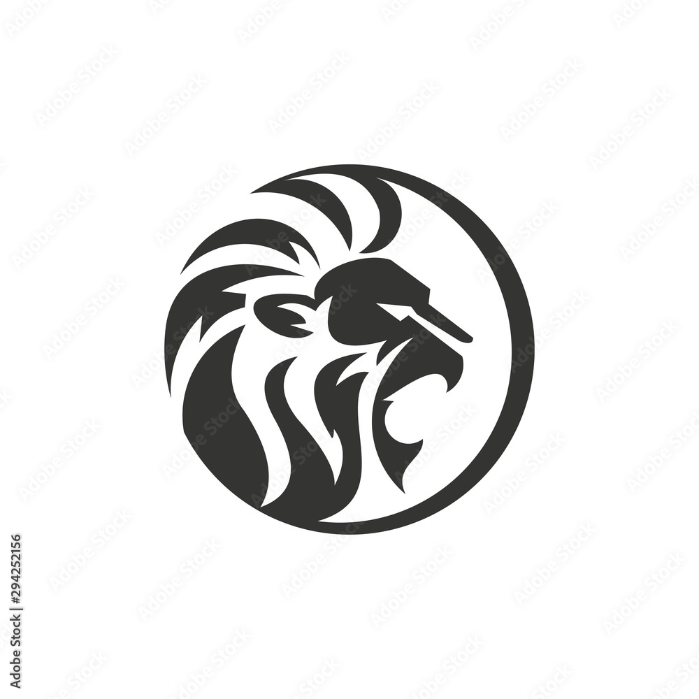 Fototapeta unique lion illustration logo template