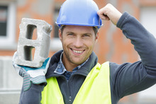 Confident Handsome Builder Hel...