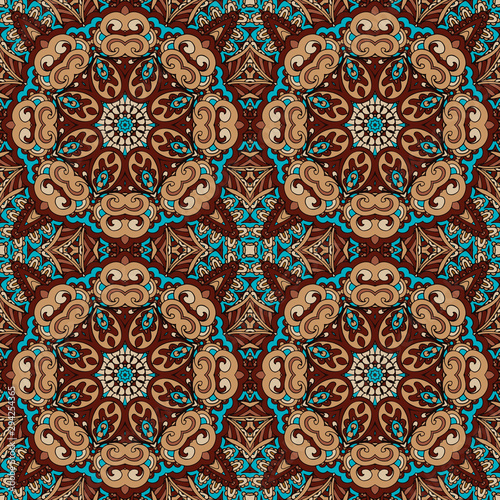 Seamless pattern mandala ornament Canvas