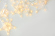 canvas print picture - Beautiful glowing garland on white background