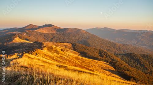 Obraz Piękne góry w Polsce - Bieszczady - fototapety do salonu