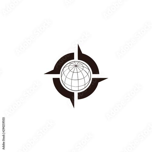 Pinturas sobre lienzo  Compass Logo design template,map of adventure digital