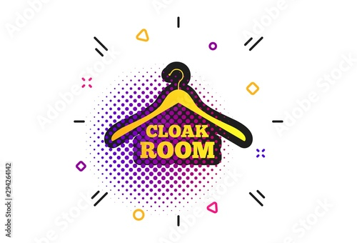 Fotomural Cloakroom sign icon