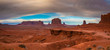 Clouds over Monument Valley, Navajo Land, Utah, USA
