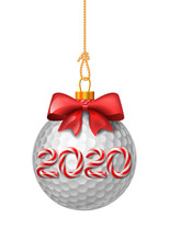 Golf Ball Christmas Baubles Wi...