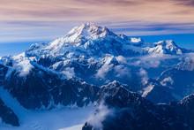 Areal View Of Mount McKinley Glaciers, Alaska, USA