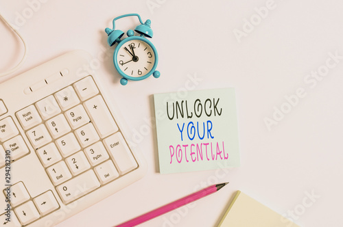 Photo Conceptual hand writing showing Unlock Your Potential