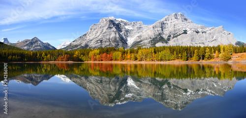 Foto auf Gartenposter Blaue Nacht Scenic Wedge pond landscape in Alberta Canada