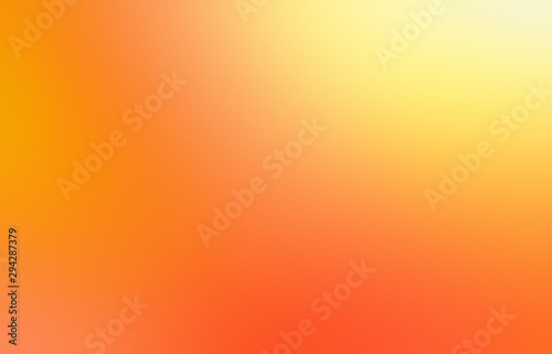 Yellow orange juice blur texture. Bright ripe fruit color abstract background. Colorful graphic. - 294287379