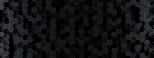 Dark hexagon wallpaper or b...