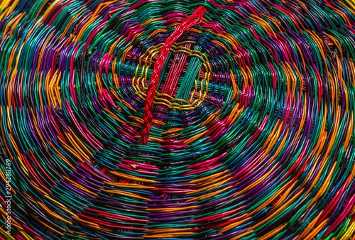 Textura de artesanías coloridas de Boyacá Colombia Wallpaper Mural