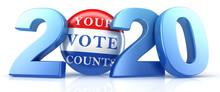 Vote 2020. Red, White, And Blu...