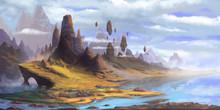 The Mountains. Fantasy Fiction...