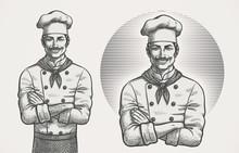 Male Chef Hatching Illustration