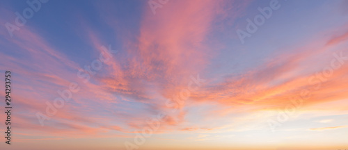 Fototapety, obrazy: Red sky sunset background image