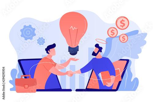 Fotografie, Obraz Entrepreneurship funding, initiative investment, idea financing