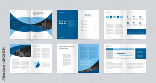 Fototapeta  template layout design with cover page for company profile ,annual report , brochures, flyers, presentations, leaflet, magazine,book