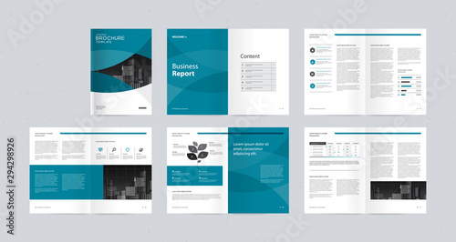 Obraz na plátně  template layout design with cover page for company profile ,annual report , brochures, flyers, presentations, leaflet, magazine,book