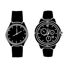 Silhouette Design Wristwatch