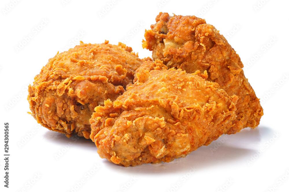 Obraz Photo of spicy crispy fried chicken thighs fototapeta, plakat