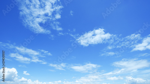 Fotografie, Obraz  clear blue sky background,clouds with background.