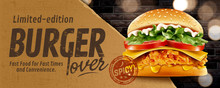 Fried Chicken Burger Banner Ads