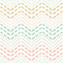 Baby Dotted Chevron Seamless P...
