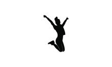 Young People Jump Fun Logo Ico...