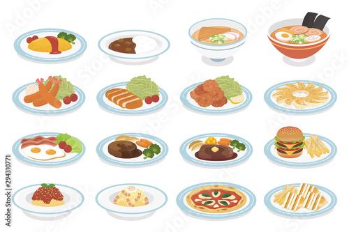 Fototapeta Various dishes obraz