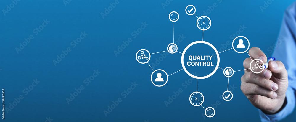 Fototapeta  Quality control, Industry, Technology, Internet, Business