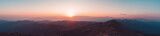 Fototapeta Landscape - Beautiful sunset over Taurus Mountains from the top of Tahtali Mountain near Kemer, Antalya, Turkey