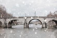 Seine River, Bridges, Paris In...